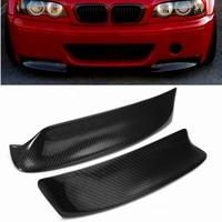 2pcs Racing Carbon Fiber Style Front Bumper Lip Diffuser Splitters Canard Splitter Air Vent Cover Trim for BMW E46 M3 1999 2006