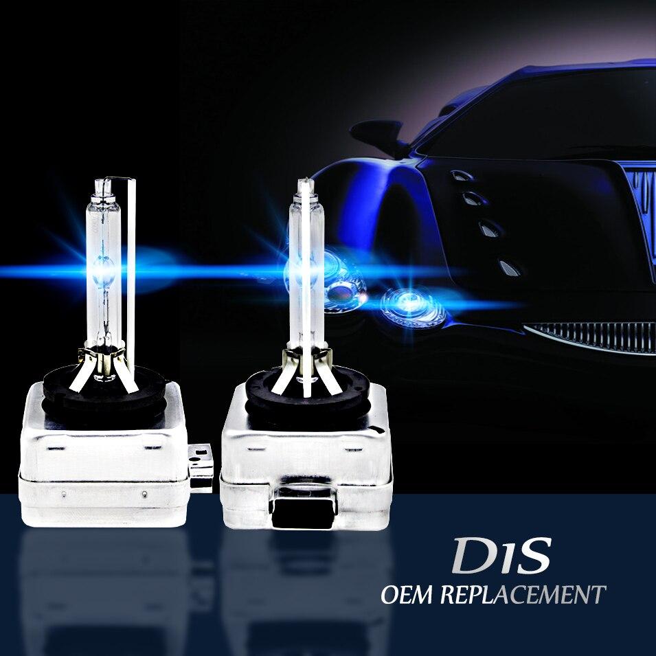 AutoCare 2pcs D1S Replacement 12V 35W D1R D1C Xenon White HID Bulbs Headlights Car Lamps High Lumen 4300K 5000K 6000K 8000K 2pcs lot car light source for audi vw package genuine xenon hid bulbs oem d1s d2s d3s 4300k 6000k 12v 35w