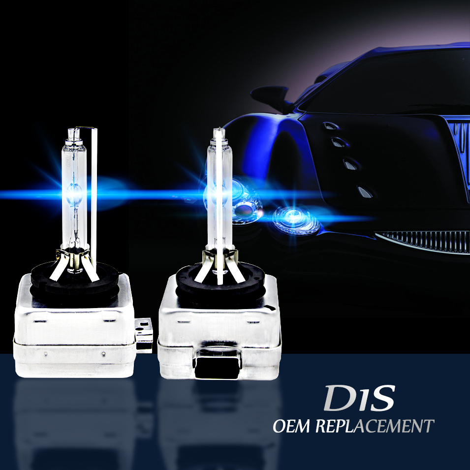 AutoCare 2pcs D1S Replacement 12V 35W D1R D1C Xenon White HID Bulbs Headlights Car Lamps High Lumen 4300K 5000K 6000K 8000K