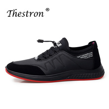 Man Casual Shoes Black Red Top Men Brand Fashion 2018 Skate Spring Summer Flat Footwear Comfortable PU