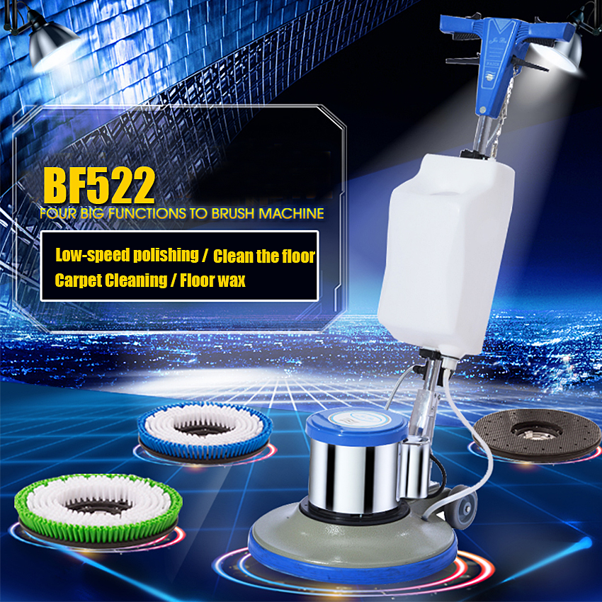 New BF522 Household Hotel Carpet Cleaning Brushes Push-Type Washing Floor Wiping Machine Carpet Cleaning/Waxing/Wax 175RPM 220V ...
