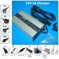 24 V 3A carregador Saída 29.4 V 3A carregador caixa de alumínio Para 24 V carregamento da bateria li-ion 24 V 3A Lipo/LiMn2O4/LiCoO2 bateria Carregador
