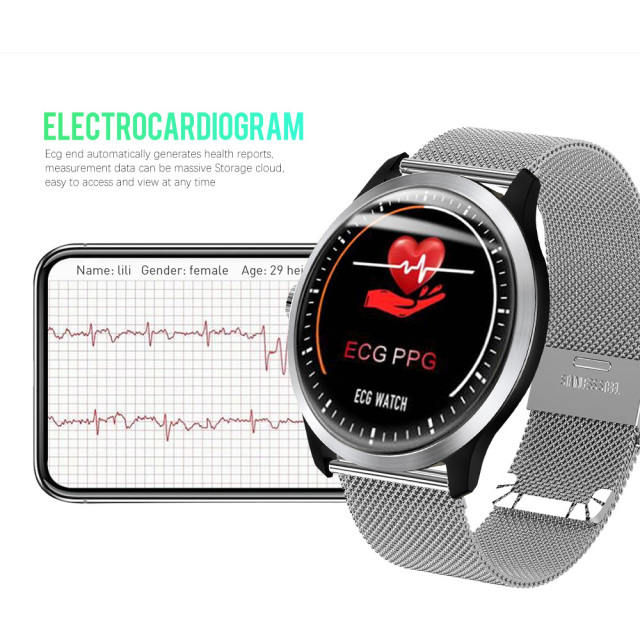 LEMFO 2019 Stylish new waterproof -> pedometer -> heart rate -> ECG + PPG Smart Watch