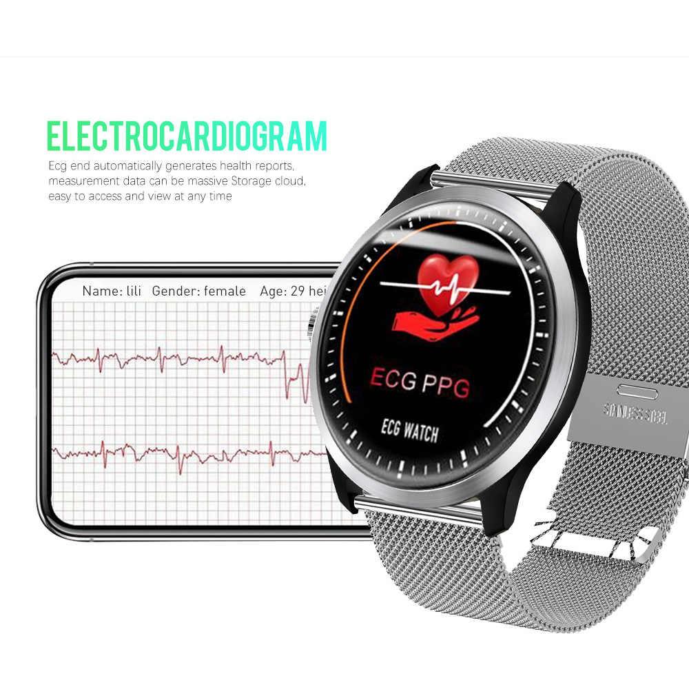 Lemfo 2019 Nuevo ECG + PPG Inteligente Reloj de los Hombres IP67 del Deporte Impermeable Reloj Monitor de Ritmo Cardíaco Sangre Presión Smartwatch para las Personas de Edad