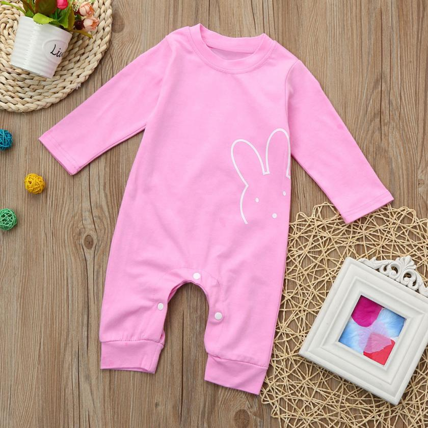 6M-24M Infant Princess Baby Boy Girls Warm pink color Clothes Long Sleeve Baby Rompers Jumpsuit Baby Autumn Winter cute Clothes