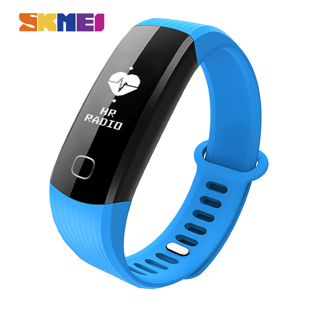 SKMEI Women Men Wristband Continuous Heart Rate Monitor Smart Bracelet Remote Camera Touch Screen Bluetooth Wristwatches