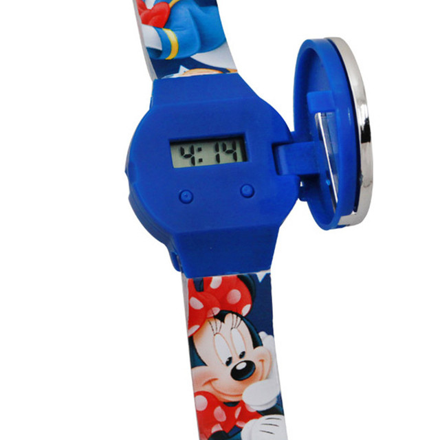 Disney Digital Watch Mickey Mouse Fashion Children Watches For Boys Girls Silicone Strap Digital Watch For Kids Children 8900481