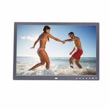 17 inch HD loop playback video player 7 touch buttons infront digital photo frame digital picture frame advertising machine