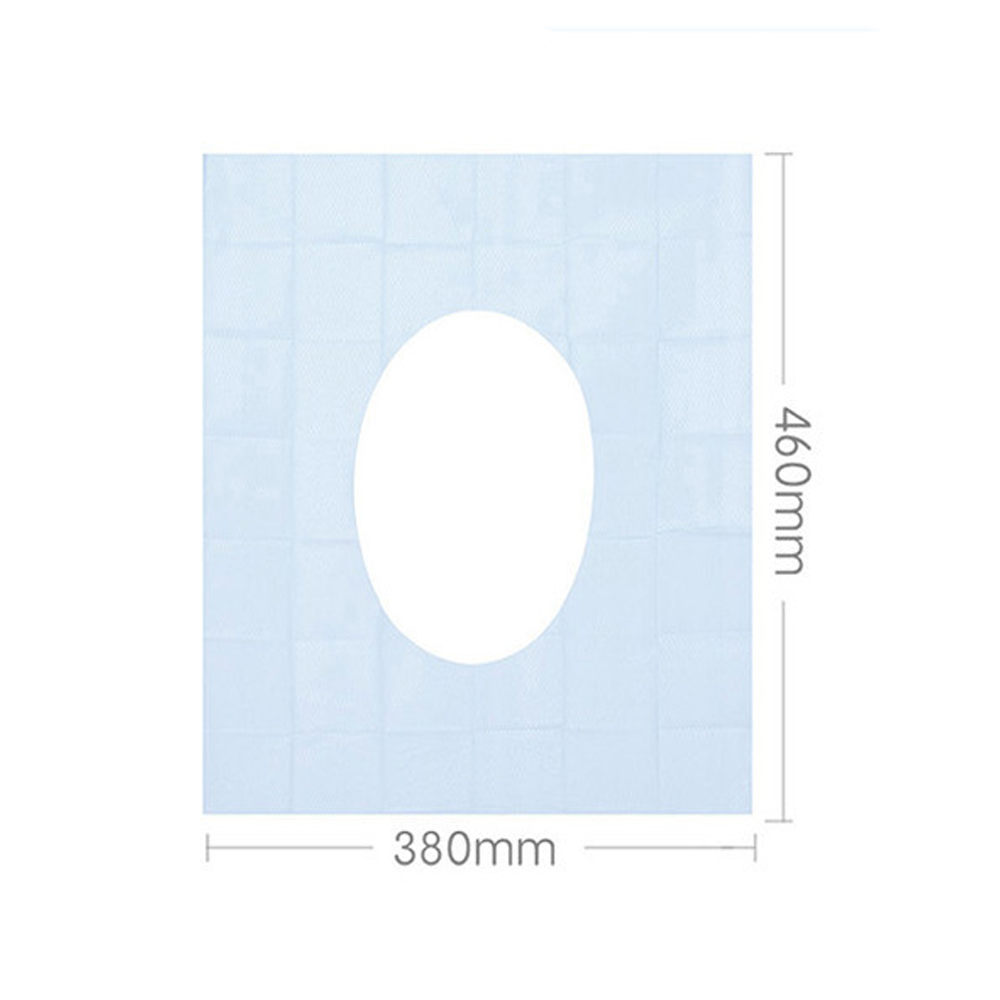 Image 4 - 1 Pack Toilet Seat Pads 100% Waterproof Safety Portable Disposable Toilet Seat Cover Mat For Travel/Camping Bathroom Accessiorie-in Toilet Seat Covers from Home & Garden