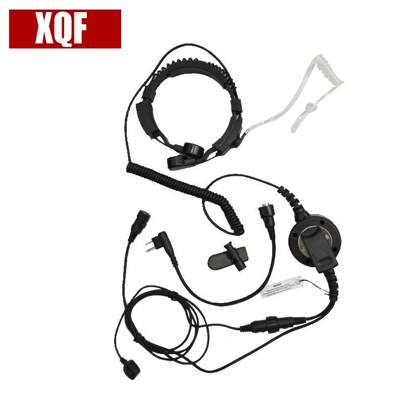 Bodyguard Flexible Throat Mic Microphone Large Armpit PTT Covert Acoustic Tube Earpiece For Motorola Radio EP450 GP2000 GP88