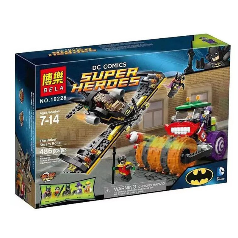 ФОТО bela 10228 dc batman joker steam roller robin super heroes minifigures building bricks blocks baby toys compatible with lepin