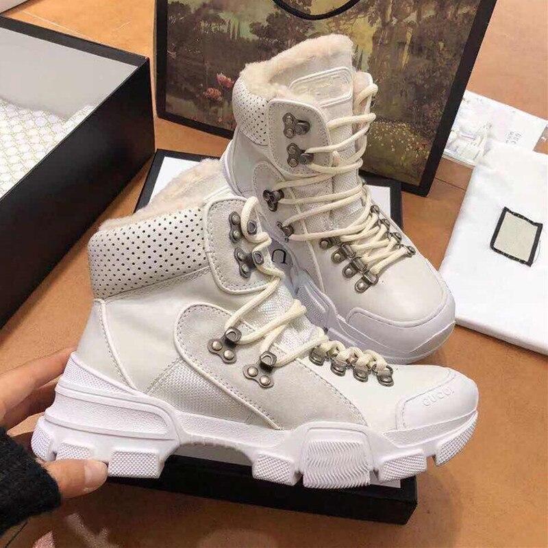 invierno Mujeres vino Bajo De Tacón Tinto Piel Negro Zapatos Nuevo marrón Negro Caliente Las 2018 Moda Tobillo blanco Botas Otoño qw1tAAfY