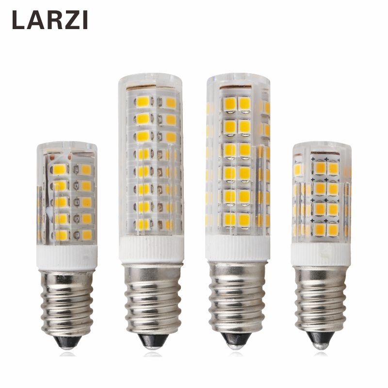 LARZI E14 LED Lamp 3W 5W 7W 220V LED Corn Bulb 33 51 75 SMD2835 360 Beam High Quality Ceramic Mini Chandelier Lights