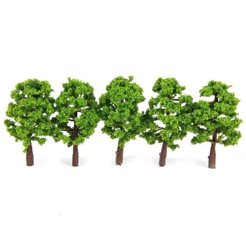 Plastic Model Tree Train Railway Landscape 1: 100 20 pcs. Darkgreen