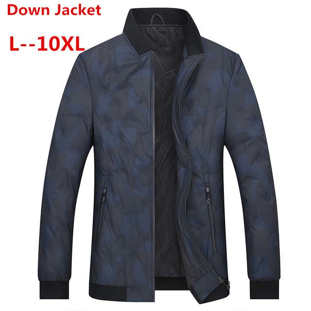 Big Promo 10XL 8XL 6XL White Duck Down Men's Winter Jacket Ultralight Down Jacket Casual Outerwear Snow Warm Fur Collar Brand Coat Parkas