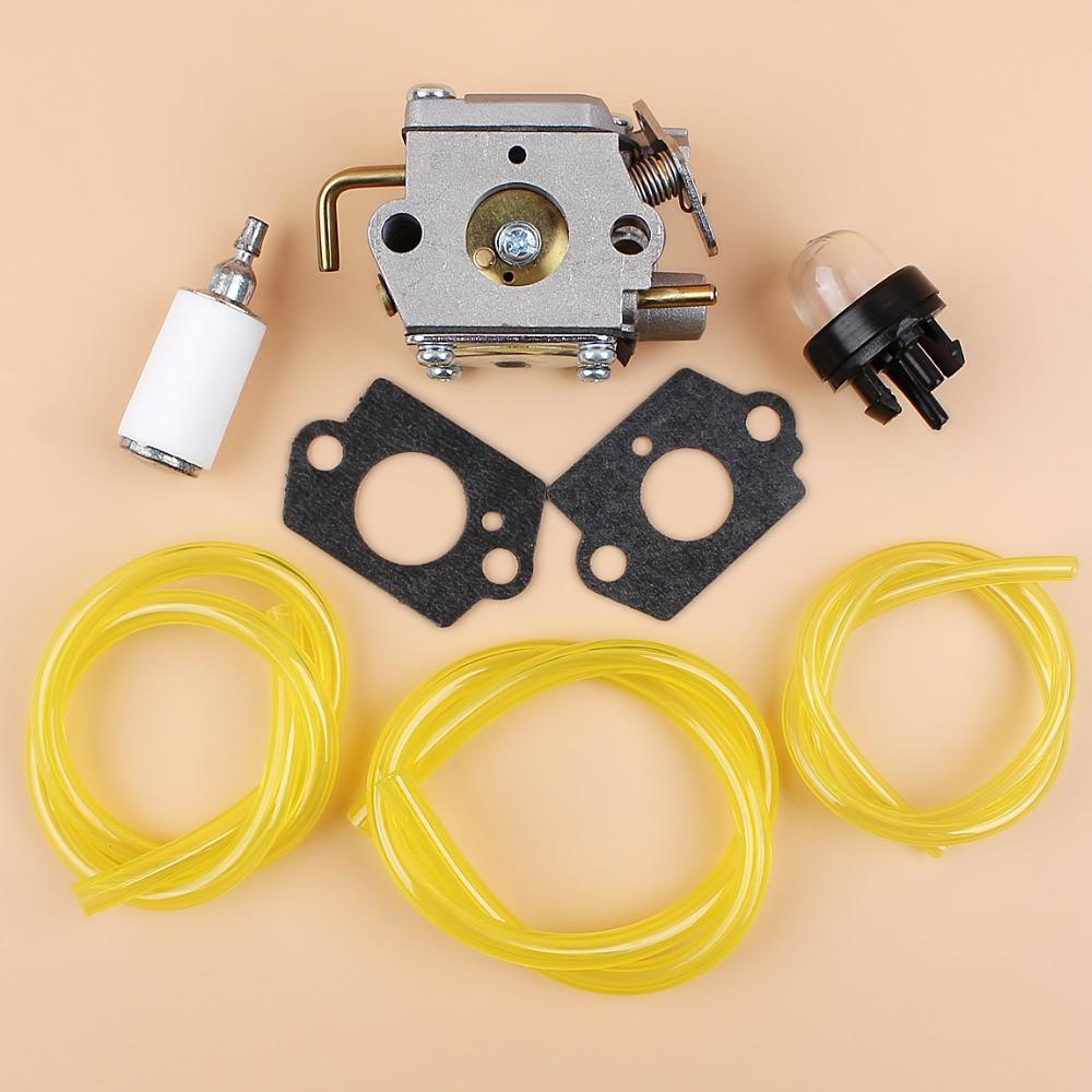 medium resolution of carburetor fuel line primer bulb kit for mtd troy bilt tb10cs tb20cs tb20ds tb65ss tb70ss tb90bc 753 05133 walbro wt 827 wt 275