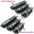 Length: 570mm/470mm/370mm Inlet 51mm Carbon Fiber Motorcycle Akrapovic Exhaust Pipe Muffler Escape with DB Killer
