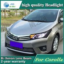 Автомобильный Стайлинг корпус передней фары для Toyota Corolla светодиодный фары DRL дневные ходовые огни Биксеноновые HID аксессуары
