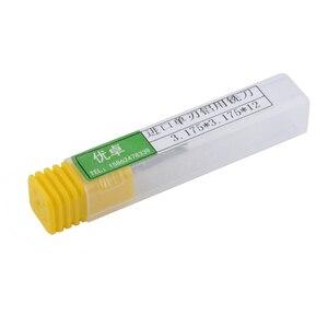 Image 3 - 5 Pcs 3.175x12mm יחיד חליל כרסום cutters עבור אלומיניום CNC כלים מוצק קרביד, לוחות אלומיניום מרוכבים