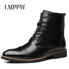 Купить с кэшбэком British Style Men Chelsea Boots Male Casual Martin Boots Large Size Men's Shoes Fashion Leather Ankle Boots Brand Men Shoes 2A