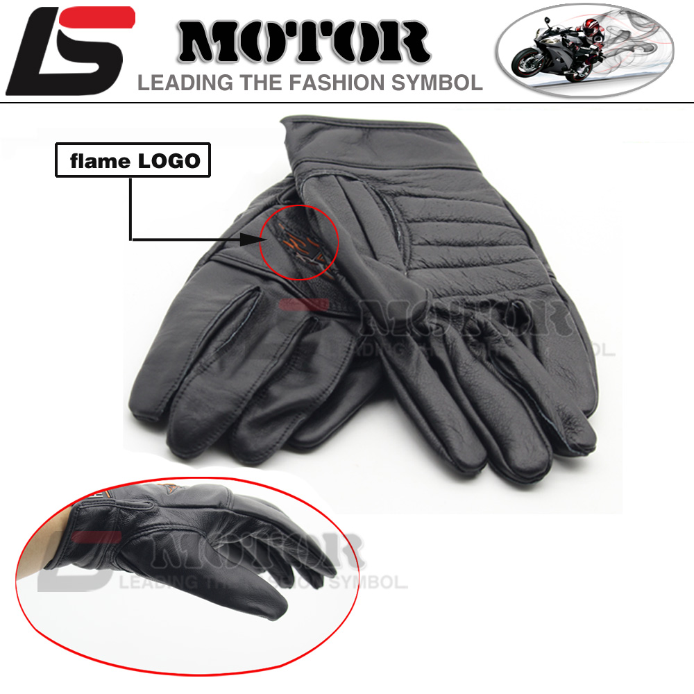 Motorcycle leather gloves india - Nwe 2016 Hot Sale For Harley Motorcyclists Leather Gloves Long Section Of Men S Leather Motorcycle Gloves