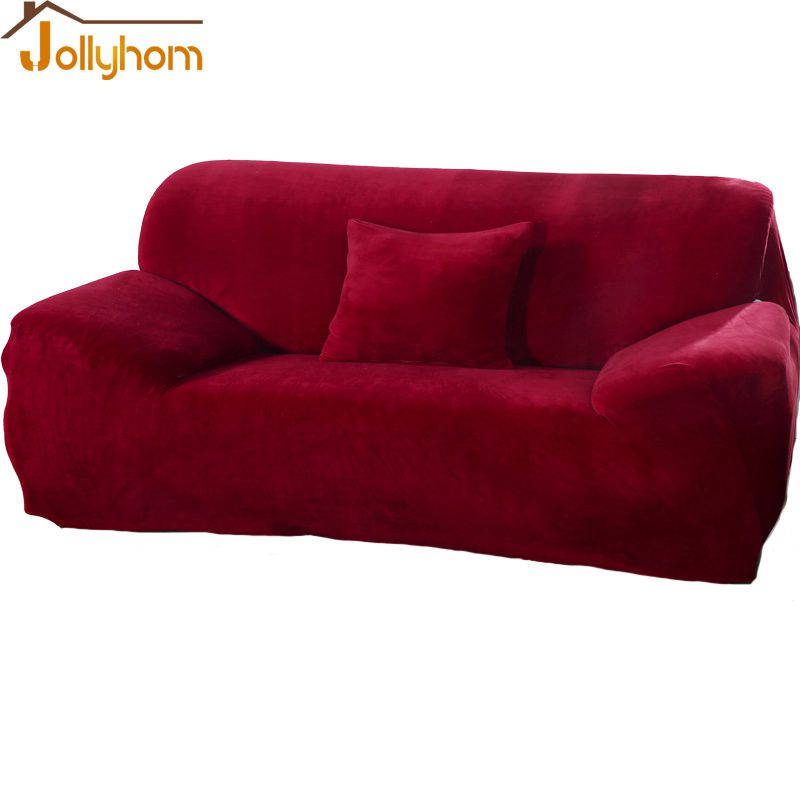 2016 Hot Sale Furniture Sofa Slipcover For Decoratioin Drawing Room Anti Dirty Solid Velvet With
