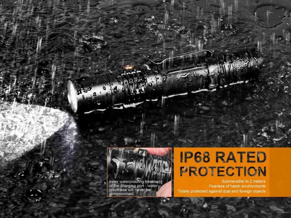 Новый UC35 V2.0 1000 люмен перезаряжаемый тактический фонарь светодиодный фонарик Micro USB с 3500 mAh 18650 батареей