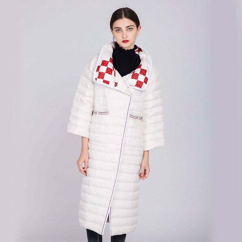 face De Femelle black White D'hiver Mujer Femmes Ayunsue Ultra Wyq858 Parka Double 2019 Duvet léger 90 Long Doudoune Canard Manteau Chaqueta 1Hwxwq6nz