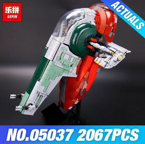 NEW LEPIN 05037 UCS Slave I Slave NO.1 Model 2067pcs Building Block Bricks Funny Toys Kits Compatible 75060 for Children Gifts lepin 05037 ucs slave toys no 1 model 2067pcs star wars building block bricks toys kits compatible legoing 75060 children hediye