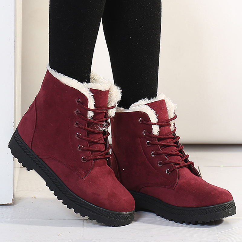 Women Boots 2018 New Women Winter Boots Warm Snow Boots Fashion Ankle Boots For Women Shoes Winter Casual Heels Botas Mujer ankle boots for women 2016 autumn winter warm women boots fashion brand winter shoes woman plus size snow boots botas mujer