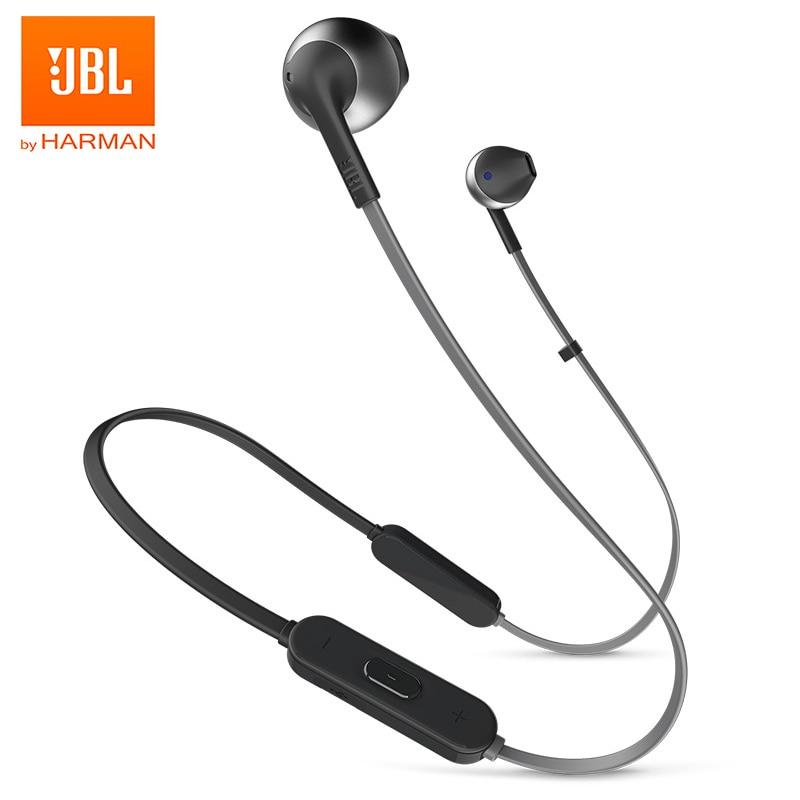JBL T205BT Wireless Bluetooth Earphone Earbuds Sports Pure Deep Bass Sound Music Headset Hands-free Calls For Smartphone