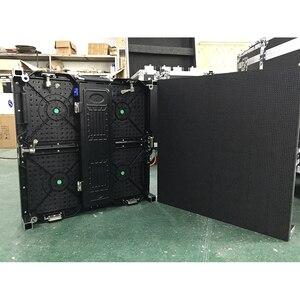 Image 3 - 500 × 500 ミリメートル屋内 rgb led 表示画面レンタル p3.91 屋内ダイカストアルミキャビネット広告ビデオウォール led スクリーン