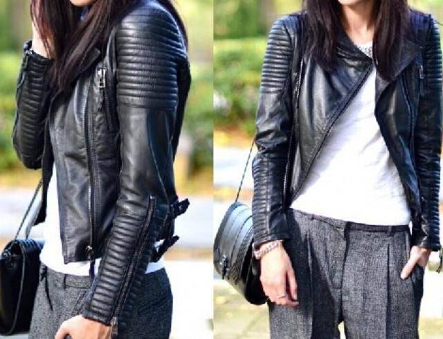Leather Jacket Women Jackets Coat Slim Biker Motorcycle Soft Zipper girl Leather Jaquetas De Couro feminina women's clothing