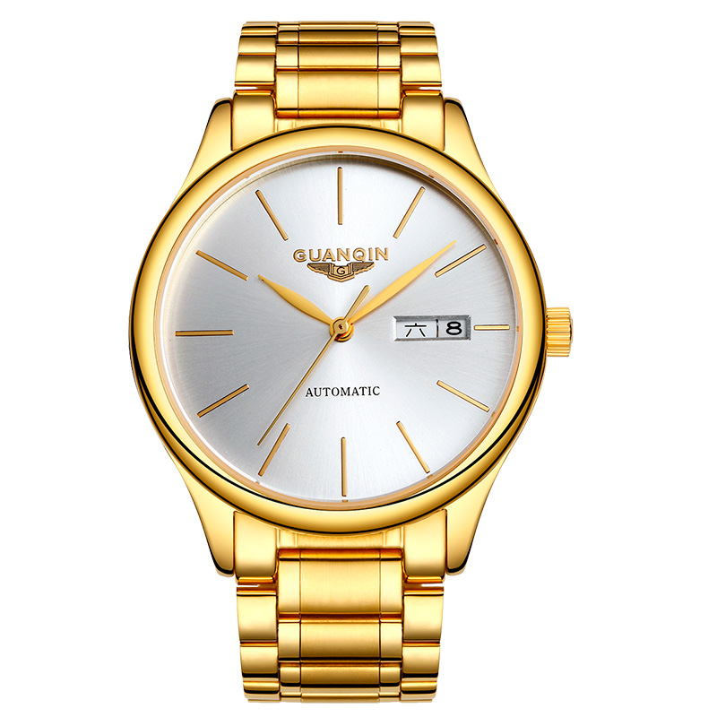 GUANQIN GJ16051 watches men luxury brand Automatic Gold Watch Business Simple Date waterproof Hollow Mechanical Wristwatches guanqin newest watch men top brand luxury men watch business automatic date mesh strap watches waterproof mechanical wristwatch