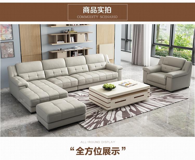 New Arrival Livingroom Latest Sofa Designs 2019 Sectional Corner L Shape  Modern Euro Design Nova Leather Sofa OCS-K009
