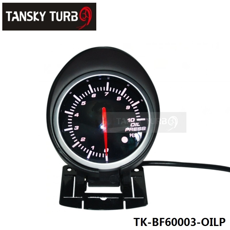 EPMAN - BF 60mm LED Oil Pressure Gauge High Quality Auto Car Motor Gauge with Red & White Light For BMW e39 EP-BF60003-OILP