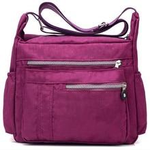 Famous Brand Design Women Messenger Bags Nylon Casual Shoulder bag Floral Handbags Three Zipper Crossbody Bag Bolsos sac a main стоимость