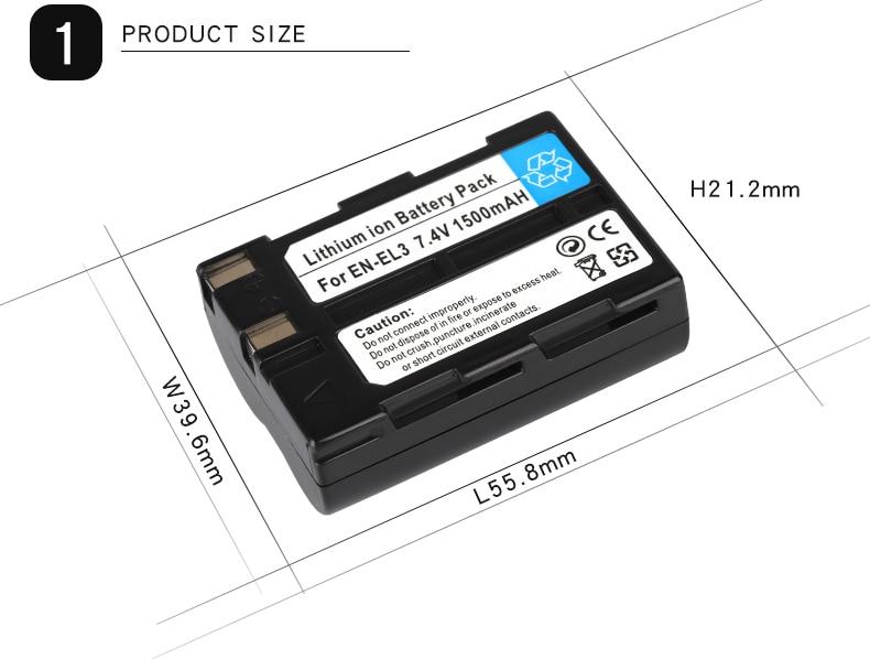 Unterhaltungselektronik Jhtc 1500 Mah En-el3 En-el3a Kamera Batterie Für Nikon D100 D70outfit D70s Set D50 Set D100 D70 D800 D800e V1 D11 D90 Dslr Batterie Stromquelle