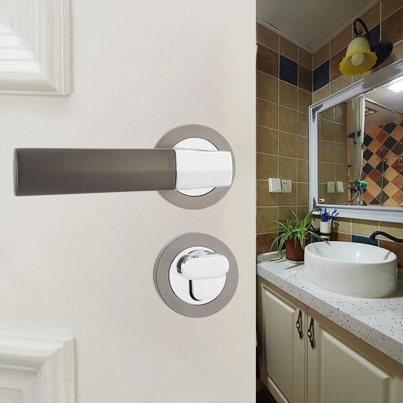 European Style Zinc Alloy Door Lock Furniture Hardware Door Handle Locks Bedroom Living Room Bathroom Furniture