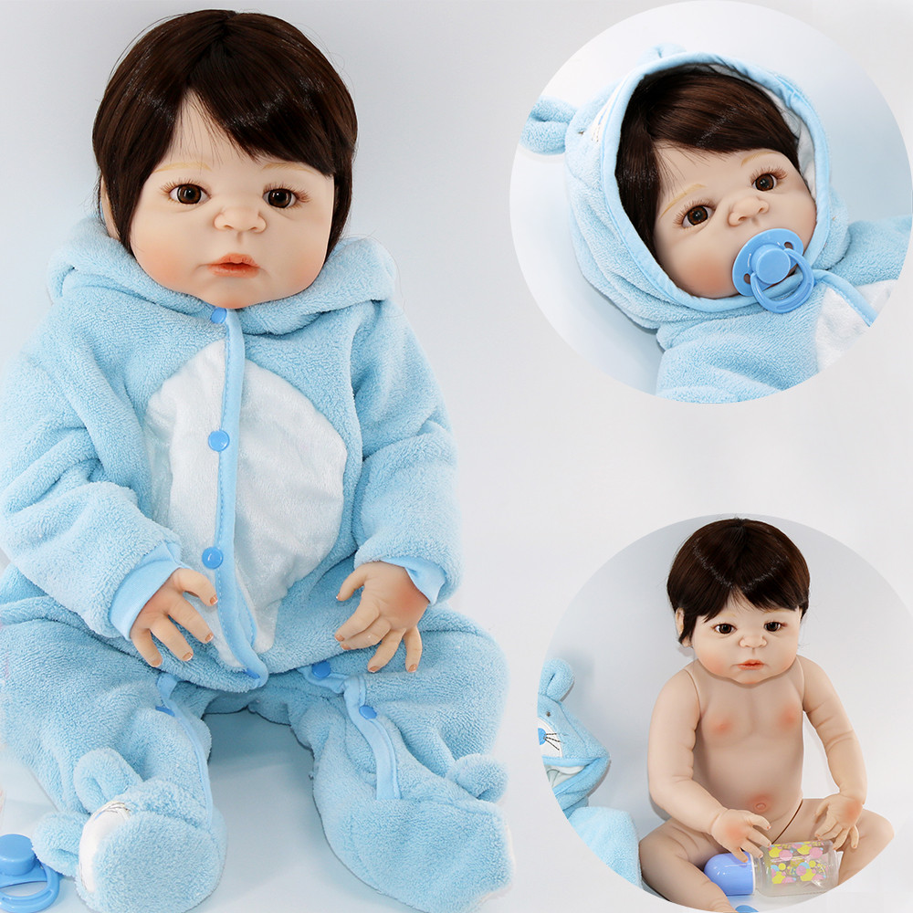 55cm 22inch FULL Silicone Reborn Dolls Baby Realistic Playmate Gift for Girls Baby Alive Soft Toys for Bouquets Doll Bebe55cm 22inch FULL Silicone Reborn Dolls Baby Realistic Playmate Gift for Girls Baby Alive Soft Toys for Bouquets Doll Bebe