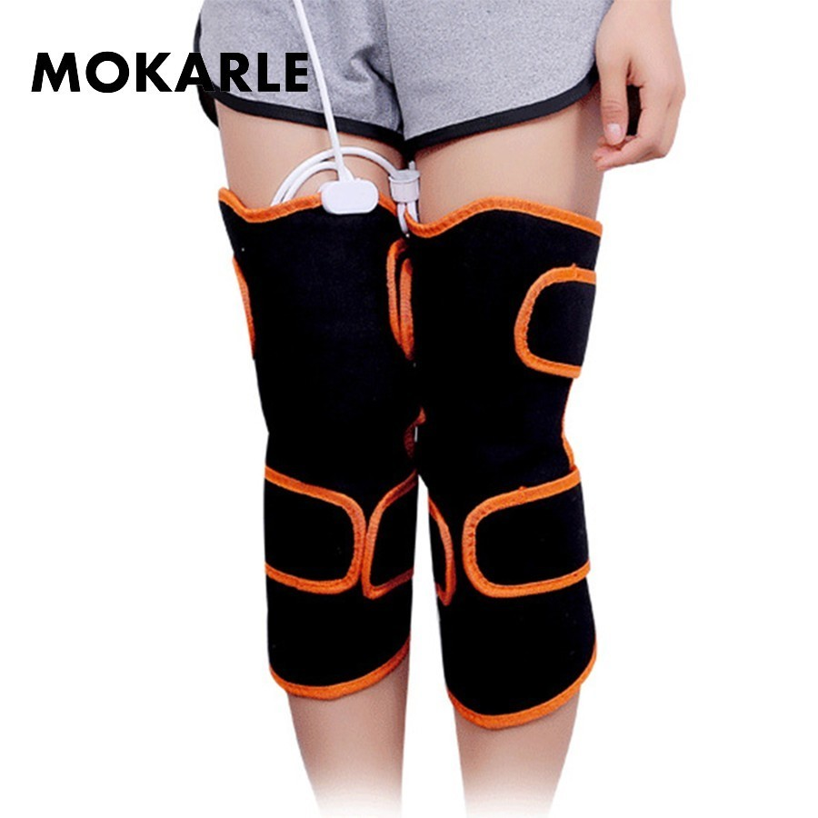 купить Moxibustion Heating Kneepad Magnetic Vibration Knee Support Electric Joint Physiotherapy Massage Pain Relief Rehabilitation Belt недорого