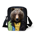 Pequenos Sacos Do Mensageiro Meninos Tigre Urso Panda 3D Animal Do Jardim Zoológico Crossbody Bag crianças para Crianças Bolsa de Ombro Meninas Mochila de Viagem Bolsa