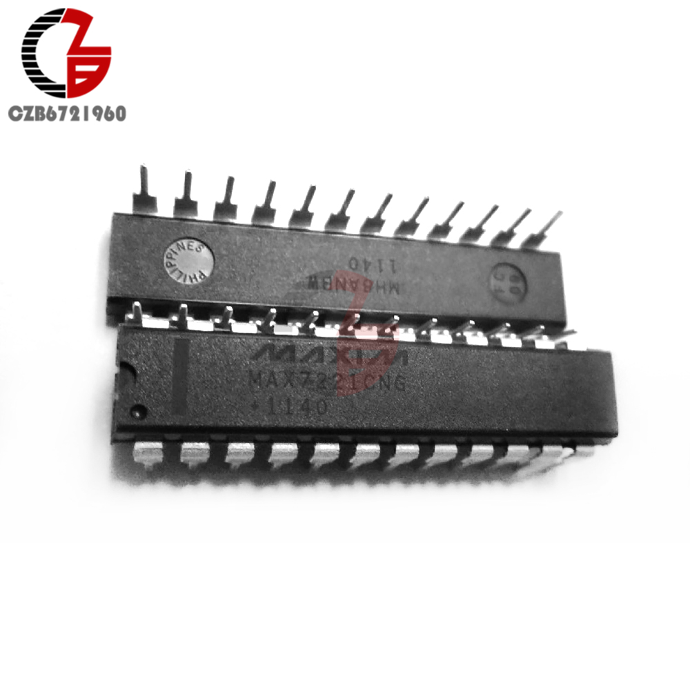 10PCS New MAX7221CWG MAX7221 8-Digit LED Display Driver SOP-24 IC