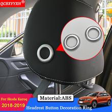 QCBXYYXH Car-styling ABS Car Modification Headrest Adjust Decorative Sequin Car Decoration Accessories For Skoda Karoq 2018 2019