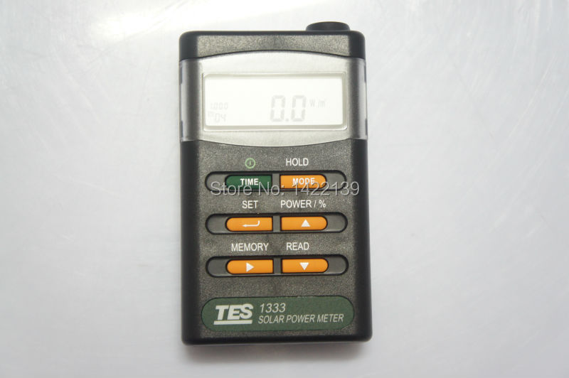 TES-1333 Solar Power Meter Digital Radiation Detector Solar Cell Energy Tester mary tes w15102142288