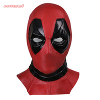 New Marvel Superhero Deadpool Mask Breathable Latex Full Face Mask Halloween Cosplay Prop