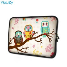 цена на print OWL 7.9 laptop sleeve soft smart notebook bag tablet case 7 mini PC protective shell cover for ipad mini 4 case TB-5797