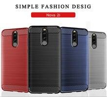 for Huawei nova 2i RNE-L02 RNE-L22 Silicone Armor Bumper Shockproof Cover Phone Cases for Huawei nova 2i RNE-L02 Case Fundas