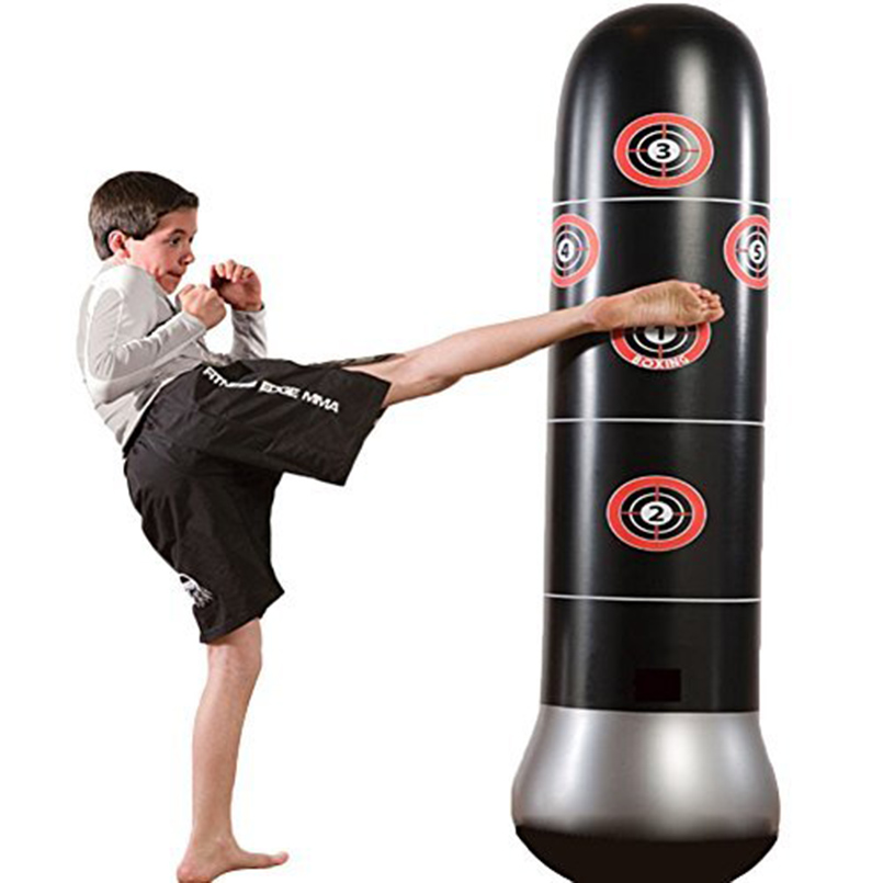 Fitness Inflatable Kids Punching Bag Stress Punch Tower Speed Bag Stand Power Boxing MMA Target