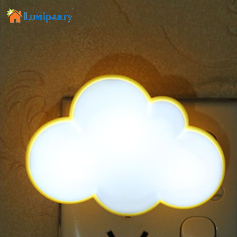 LumiParty Novelty Cloud Shape Night Light Childrens Bedroom LED Light Mini Cloud Lamp Emitting Room Decor Gift for Kids Baby